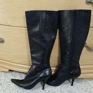 Nine West Black Leather Boots, sz 6.5M